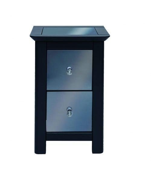 Ayr 2 drawer petite bedside cabinet - IWFurniture