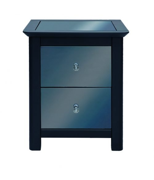 Ayr 2 drawer bedside cabinet - IWFurniture