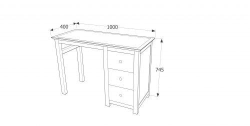 AY218 Ayr single pedestal dressing table - IWFurniture
