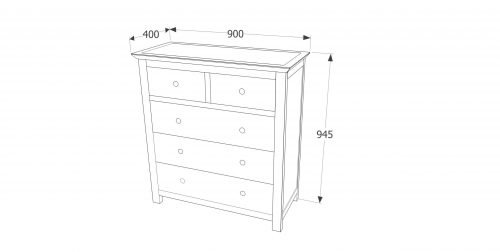 AY223 Ayr 2+3 drawer chest - IWFurniture