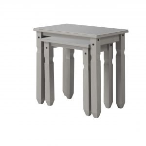 CPT907 Compact nest of two tables with glass top - IWFurniture