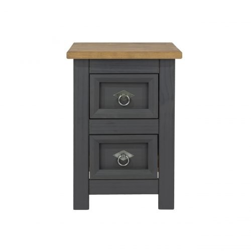 CRC509 Corona Carbon 2 drawer petite bedside cabinet - IWFurniture