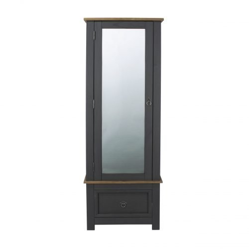 CRC525 Corona Carbon armoire mirrored door - IWFurniture