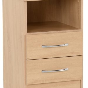 Nevada 2 Drawer Bedside - IW Furniture