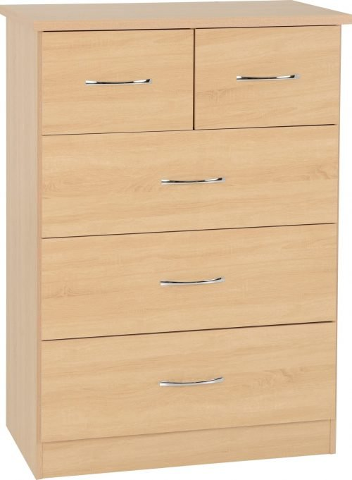 100-102-114 Nevada 3 plus 2 Drawer Chest - IWFurniture