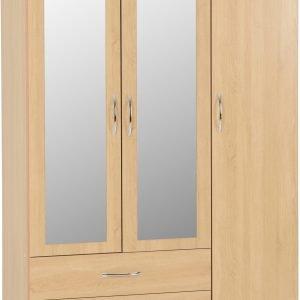 100-101-101 Nevada 3 Door 2 Drawer Wardrobe - IWFurniture