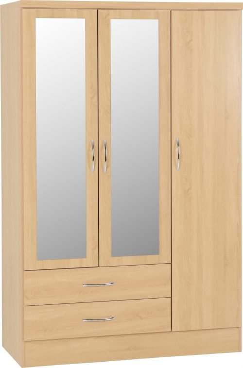 100-101-101 Nevada 3 Door 2 Drawer Wardrobe - IWFurniture
