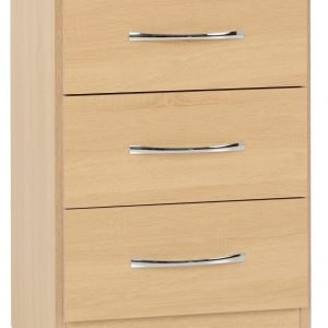 Nevada 3 Drawer Bedside - IW Furniture