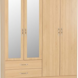 100-101-102 Nevada 4 Door 2 Drawer Wardrobe - IWFurniture