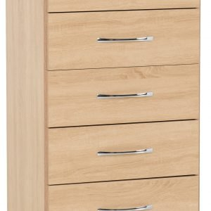 100-102-117 Nevada 5 Drawer Narrow Chest - IWFurniture