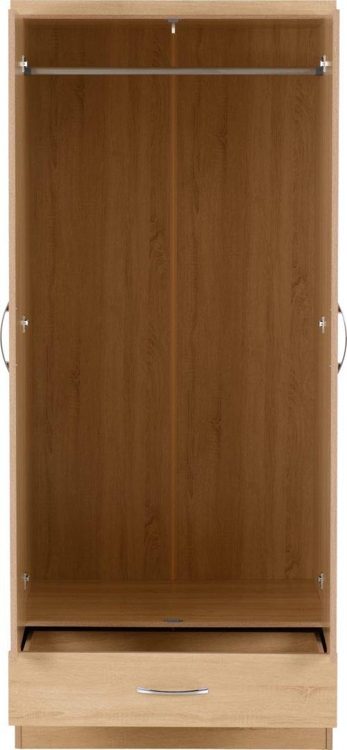 100-101-106 Nevada Mirrored 2 Door Wardrobe - IWFurniture