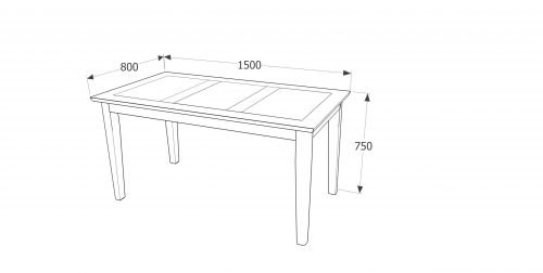 PE-TB2 Perth dining table Large – IWFurniture