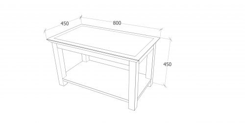 PE702 Perth coffee table open - IWFurniture