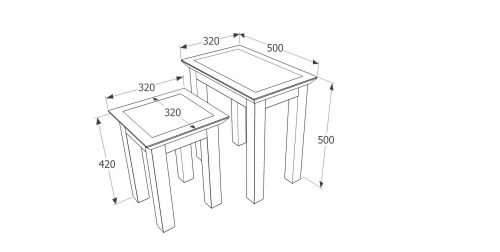 PE707 Perth nest of 2 tables - IWFurniture