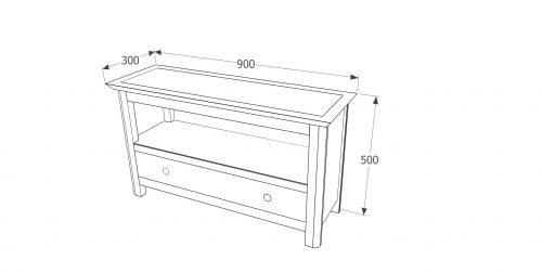 PE710 Perth 1 drawer TV unit - IWFurniture