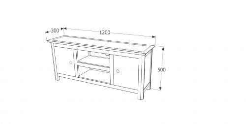 PE712 Perth 2 door TV unit - IWFurniture