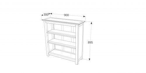 PE713 Perth low bookcase - IWFurniture