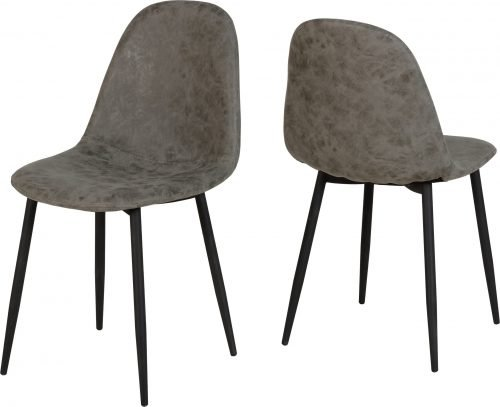 ATHENS DINING CHAIR GREY PU 400 402 097 scaled