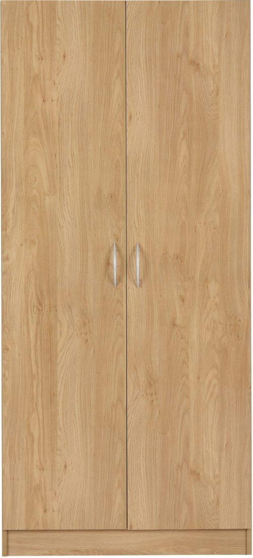 BELLINGHAM 2 DOOR WARDROBE OAK EFFECT VENEER 2019 01 100 101 003 scaled