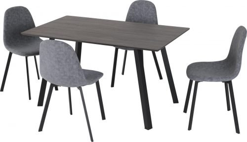 BERLIN DINING SET BLACK WOOD GRAINDARK GREY FABRIC 2020 400 401 185 01 scaled 1