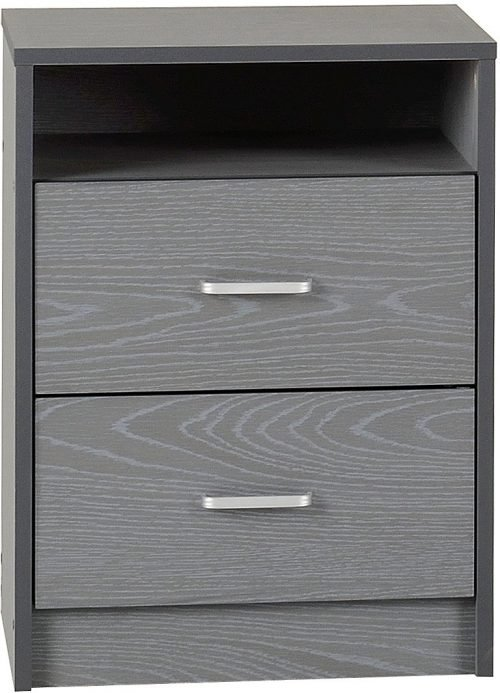 FELIX 2 DRAWER BEDSIDE GREY 2019 01 100 103 061