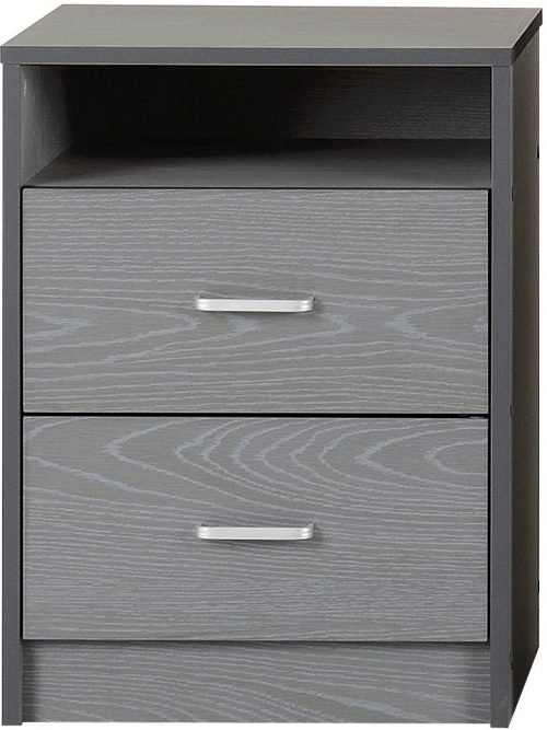FELIX 2 DRAWER BEDSIDE GREY 2019 02 100 103 061
