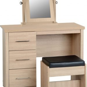 100-107-015 Lisbon 3Pc Dressing Table Set (With Mirror) - IWFurniture