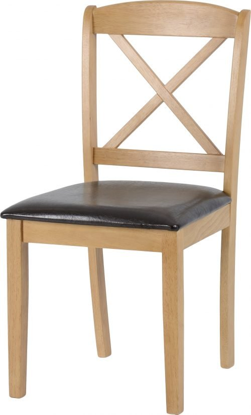 MASON DINING CHAIR OAK VARNISH BROWN PU 400 402 099