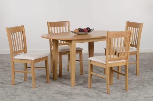 OXFORD EXTENDING DINING SET NATURAL OAKMINK MICROSUEDE 03 400 401 065 scaled