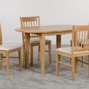 OXFORD EXTENDING DINING SET NATURAL OAKMINK MICROSUEDE 04 400 401 065 scaled