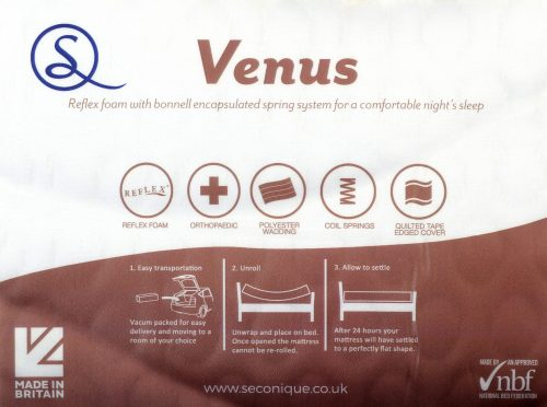 VENUS 46 MEMORY COOL ROLLED MATTRESS WHITE FABRIC 04 200 208 077 scaled