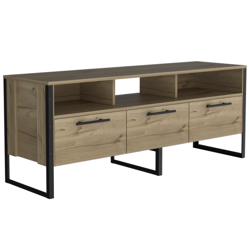 Brooklyn wide screen TV rack with 3 doors - IW Furniture