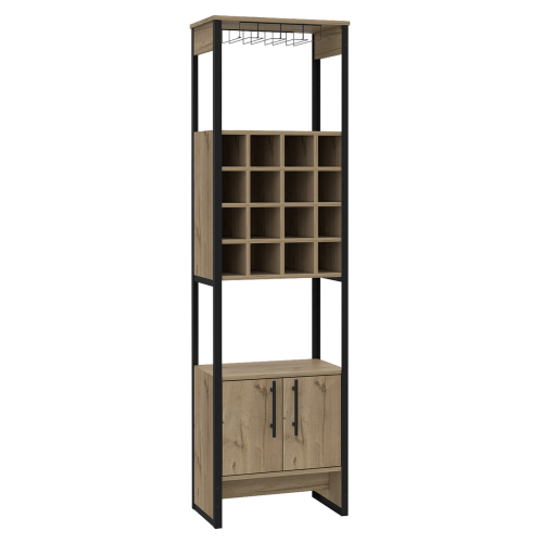 BK914 brooklyn 2 door wide wine cabinet - IWFurniture