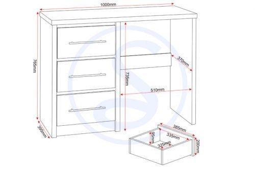 Seville Dressing Table Set - IW Furniture
