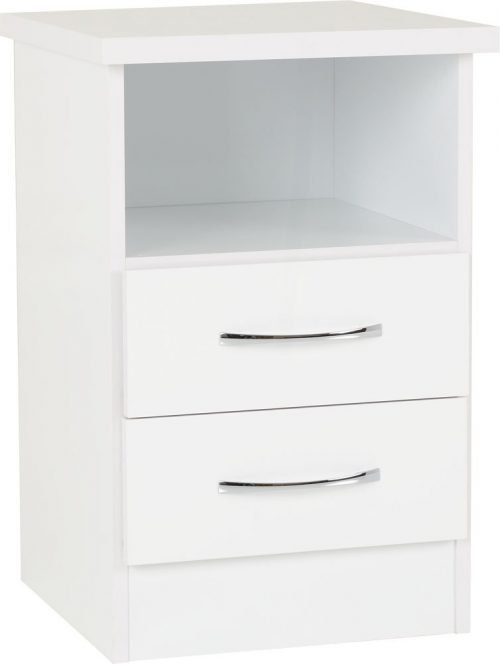 Nevada 2 Drawer Bedside 01-100-103-058 - IW Furniture