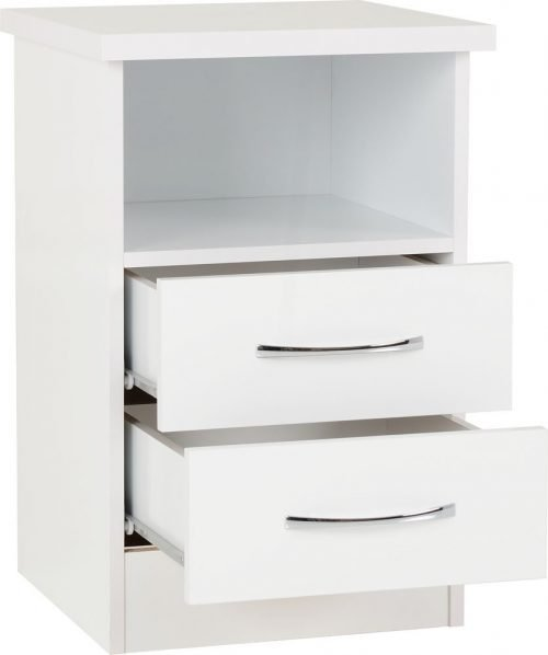 Nevada 2 Drawer Bedside 2 01-100-103-058 - IW Furniture
