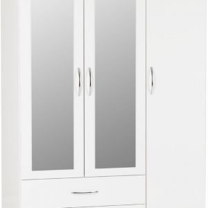 Nevada 3 Door 2 Drawer Mirrored Wardrobe -01-100-101-089 - IW Furniture