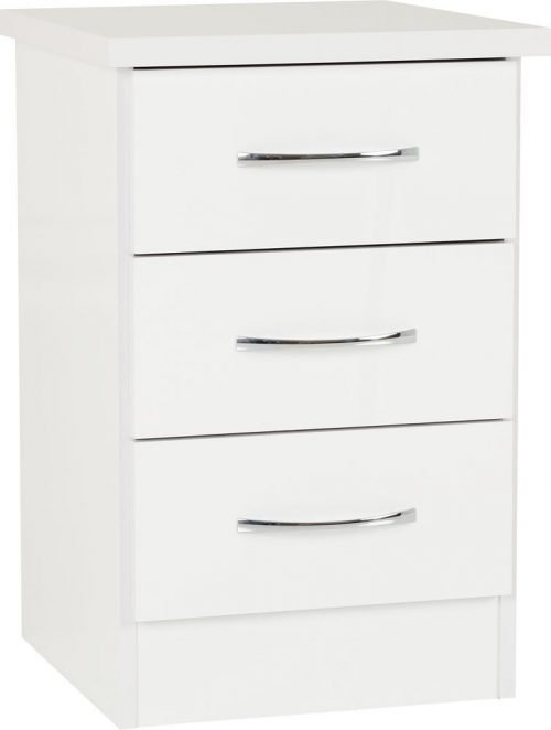 Nevada 3 Drawer Bedside -01-100-103-059 - IW Furniture