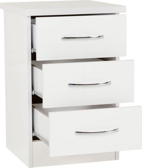 Nevada 3 Drawer Bedside -02-100-103-059 - IW Furniture