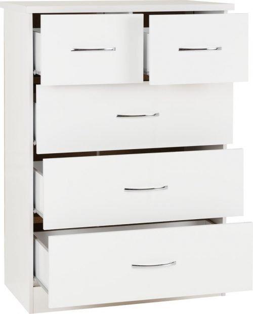 Nevada 3+2 Drawer Chest -02-100-102-106 - IW Furniture