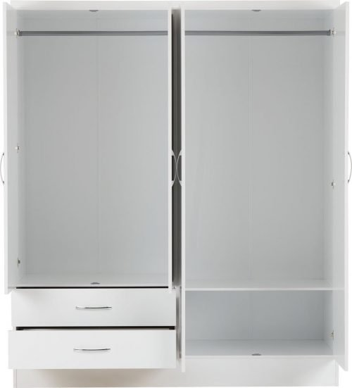 Nevada 4 Door 2 Drawer Mirrored Wardrobe -03-100-101-088 - IW Furniture