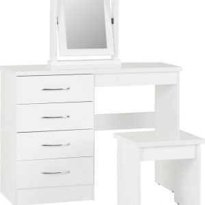 Nevada 4 Drawer Dressing Table Set-01-100-105-017 - IW Furniture