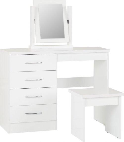 Nevada 4 Drawer Dressing Table Set-01-100-105-017 - IW Furniture