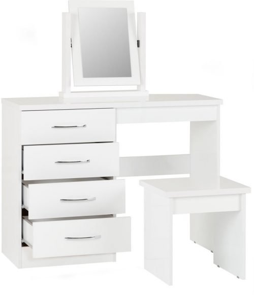 Nevada 4 Drawer Dressing Table Set-02-100-105-017 - IW Furniture