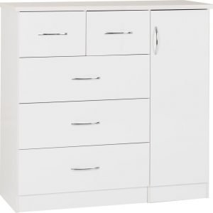 Nevada 5 Drawer Low Wardrobe -01-100-101-105 - IW Furniture