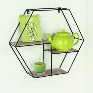 LF102 - Hexagonal display shelf 480mm - IW Furniture