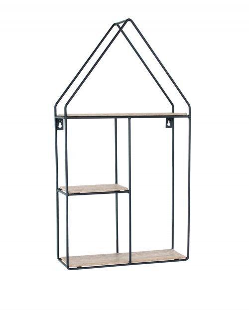 LF105- House shape display wall shelf - IW Furniture