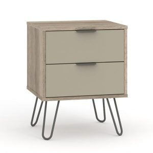 AGD510 2 drawer bedside cabinet - IWFurniture