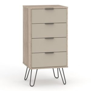 AGD517 4 drawer narrow chest of drawers - IWFurniture