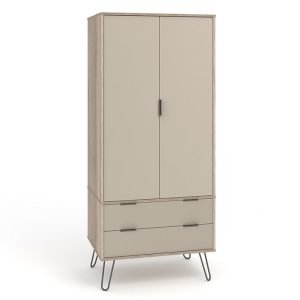 AGD582 2 door 2 drawer wardrobe - IWFurniture